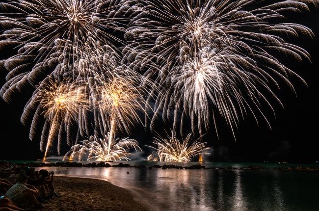Fuegos artificiales en Southampton este domingo en conmemoración del 4 de Julio